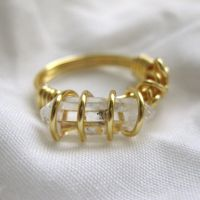 Gold Plated Quartz Ring I SOLD by DarkFireRaven