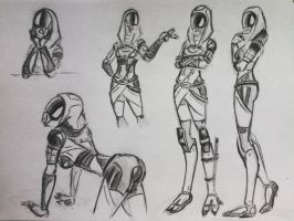 sketches Tali (51) by spaceMAXmarine