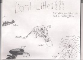 AVP Dont Litter Poster by athyn100