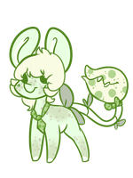 Green planty adopt action - open by OfficerMittens