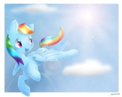 Rainbow by PegaSisters82