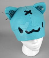 Blue Punk Kitty hat by SewDesuNe