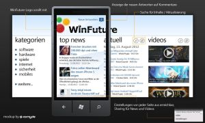 WinFuture.de - Windows Phone App Mockup by dj-corny