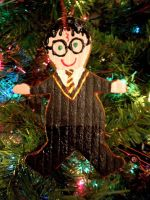 Harry Potter gingerbread man ornament by brodiehbrockie