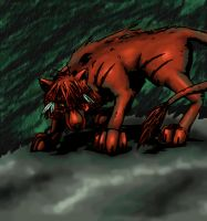 colored Red Wolves by lizardbug7