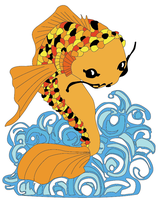 Vector Koi Fish by lovexohate