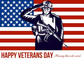 US Veterans Day Remembrance Greeting Card by apatrimonio