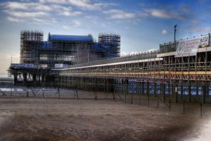 Weston Pier Construction HDR by snapshot19