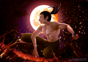 Shirtless Ninja: Nara Shikamaru by greggileano