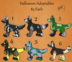 Halloween Adopts (Leftovers and new arrivals) by RayaWolf