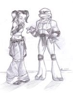 TMNT - Raph and Angel by xSkyeCrystalx