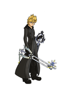 Roxas - Coloured by kaizer21