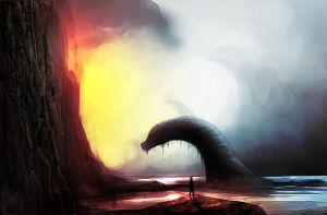 The Loch Ness Monster by darakane666