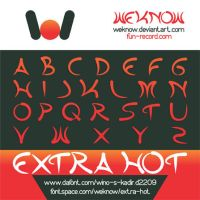 extra hot font by weknow by weknow