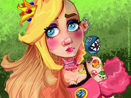 Alternative Princess Peach by Finaz