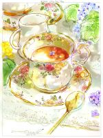 #daily_44 Lilac Tea Time by tinashan