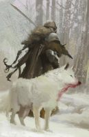 Master study: Jaime Jones' Wolf Viking by byakko-kun