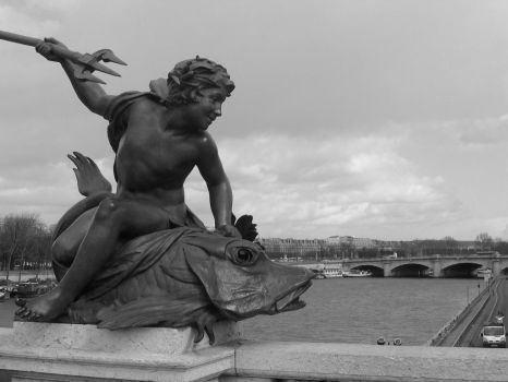 Statue from Alex. bridge by torcani