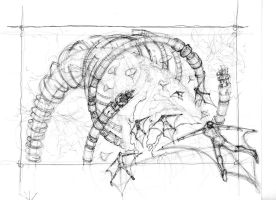 ring station sky dive sketch 2 by mikemars