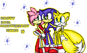 Happy 20th Anniversary Sonic by MariaTheCat66
