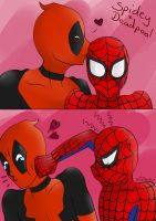 Spideypool - I know Spidey loves Deadpool! by Aitsuka888