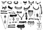 Gothic jewellery Brushes by TheoGothStock