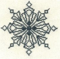 Embroidery: Snowflake 4 by Ronjaliek