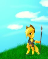 applejack stance by chineseninja