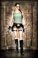 Lara Croft- egypt scene by Daelyth