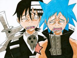 Dead the Kid and Black Star by MikeES