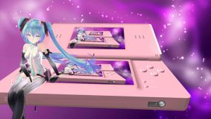 MMD Nintendo DS Lite Pink stage New Version! by MeryPinku