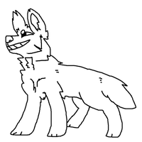 Free canine lineart by DieselPaws