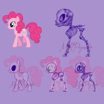 MLP Show style skeleton by MyLilPegasister