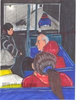 People on the bus by Hext