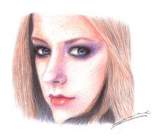 Experimental drawing - Avril by StingingPistol