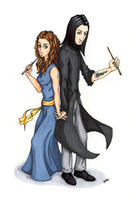 Back to Back (Severus Snape/Hermione Granger) by NothingSoul