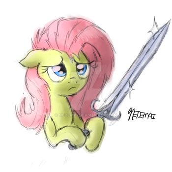 Flutters with a sword by Nedemai