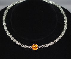 Amber Star Necklace Front by Adornments