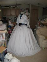 Civil War Dress: Progress by Elrowiel