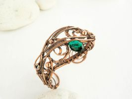 Wire copper bracelet  Spring by UrsulaOT