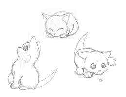 Sketches - Playful Kittens by Kojichan