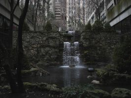 Waterfall and Pool by racehorse87-stock