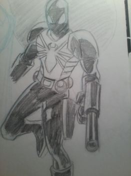 12-20-12 SKETCH OF THE DAY AGENT VENOM by IronLion82