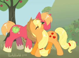 MLP Apple siblings by Pandablubb