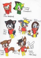 Alicia and the Marauders - Sonic forms by Piplup88908
