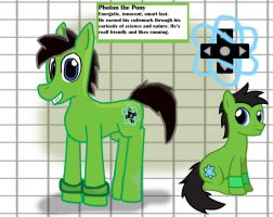 My Little Pony OC: Photon the Pony by AtomicPhoton