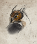 Horned owl study by Wrennars