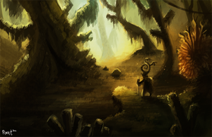 DAY 1. Weird Forest (1hr) by Cryptid-Creations