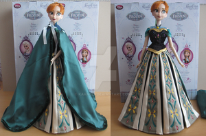 Frozen Anna Coronation custom dress by kara023