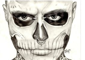 Rick Genest / Rick The Zombie / Zombie Boy by mmodique